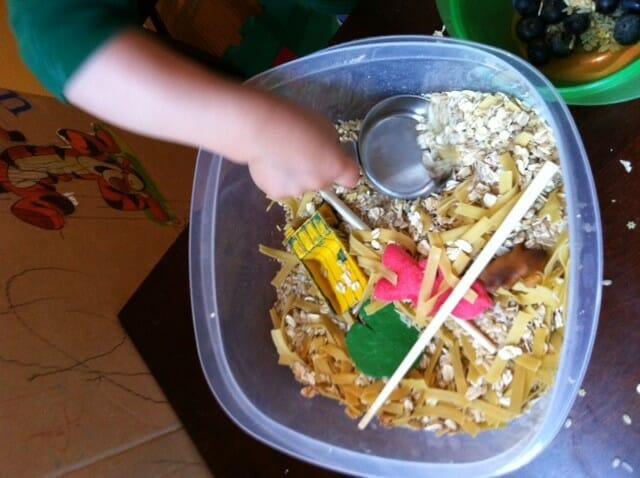 Pasta and Oats Sensory Tub