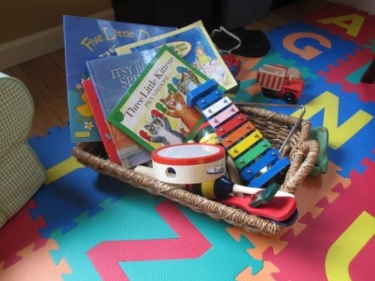 Music basket for kids