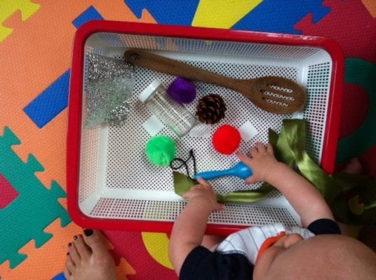 Sensory basket for kids