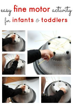 Easy Fine Motor Activity for Infants and Toddlers