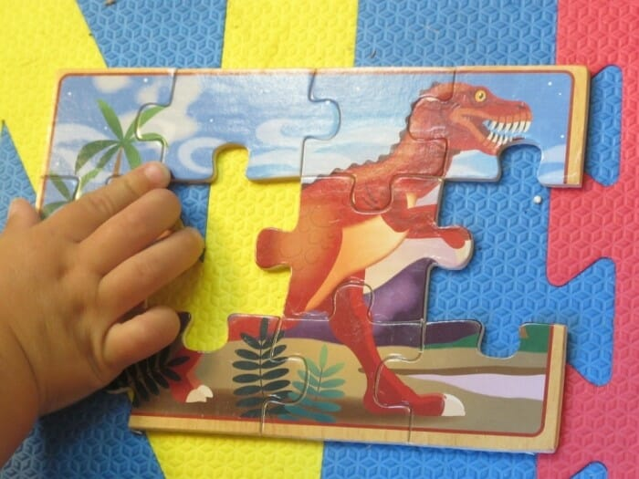 A dinosaur puzzle for kids