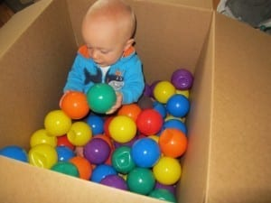 Simple Sensory Activities for Infants - Ball Pit