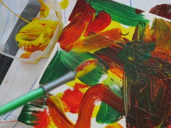 Resist Painting - Toddler & Preschool Activity