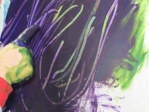 Fingerpainting Resist Painting