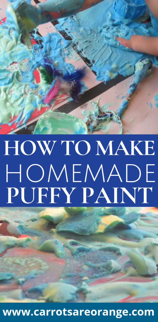 How to Make Homemade Puff Paint