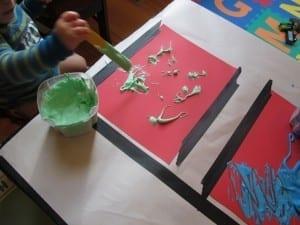 Homemade Puffy Paint Preschool Art Activity