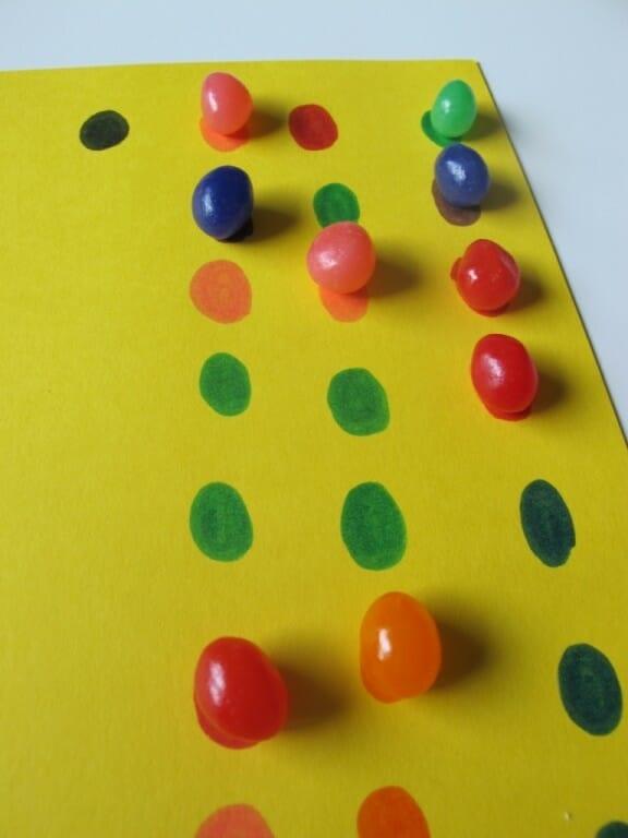 Montessori Easter Activities jellybeans