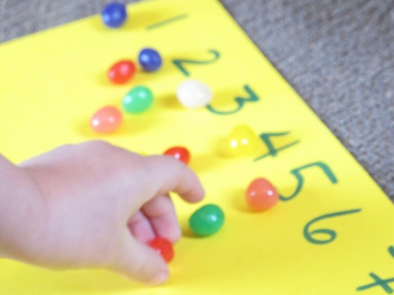 Montessori Easter Activities counting