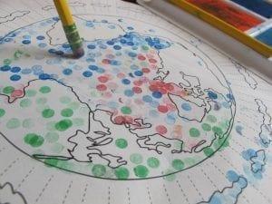 Pencil Dot Earth