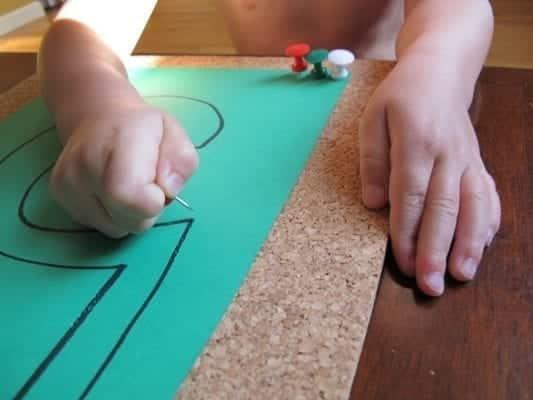 Montessori Practical Life with Push Pin