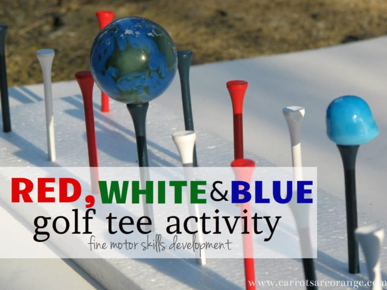 Red White And Blue Golf Tee Activity
