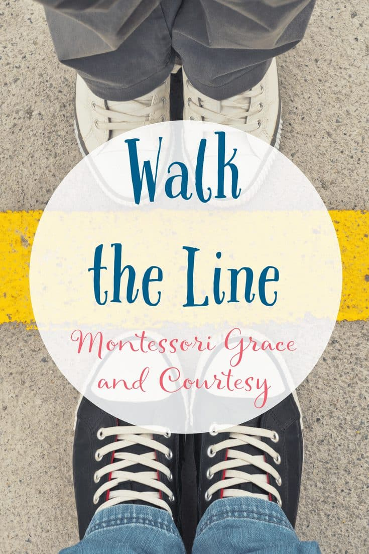 Montessori Grace and Courtesy Walk the Line Lesson