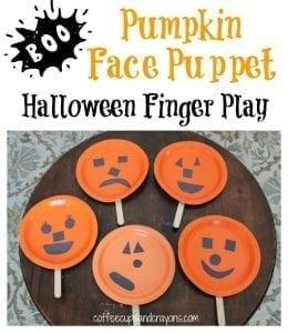 pumpkin face finger play and puppet