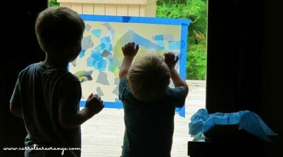 Toddler Art Activity with Tissue Paper