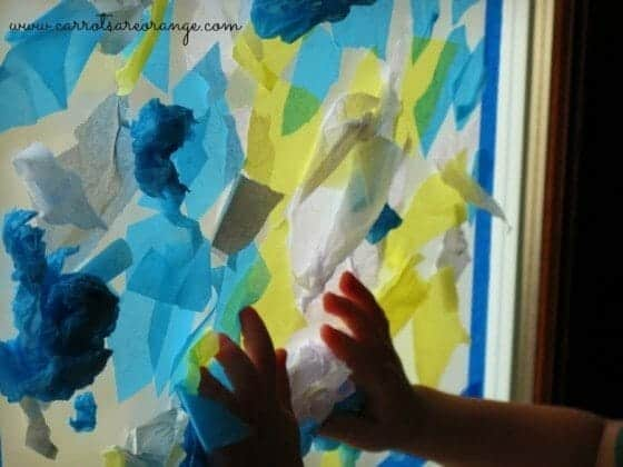 Tissue Paper Art Activity for Toddlers