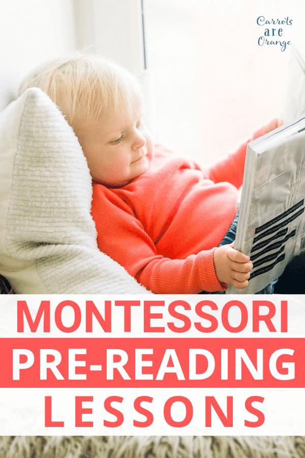 Montessori Pre Reading Lessons