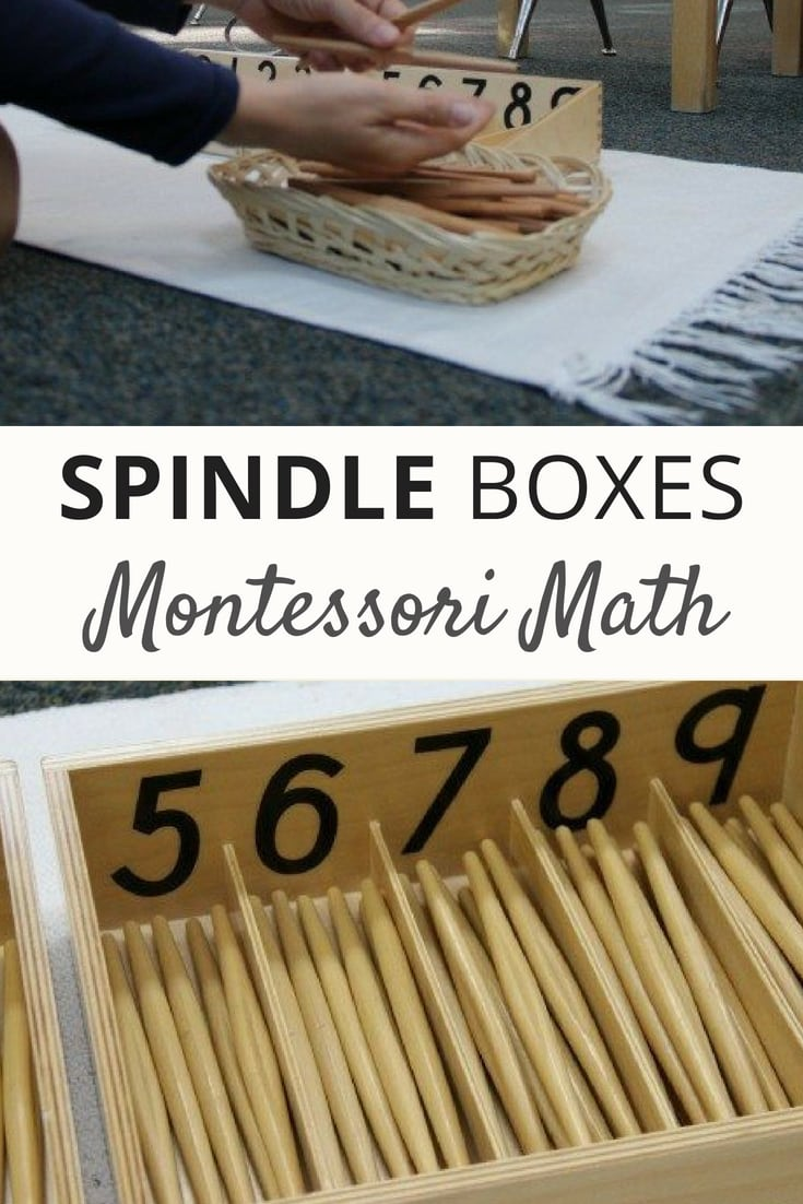 Spindle Boxes - a Montessori Math Lesson