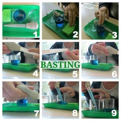 Activities with Water - Montessori Practical Life Basting