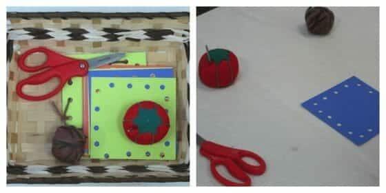 Card Sewing - Montessori Practical Life