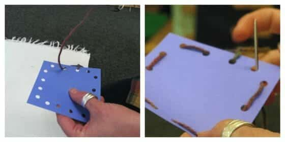 Montessori Practical Life - Card Sewing