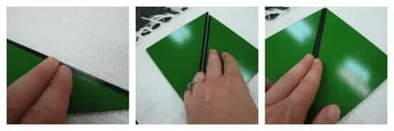 rectangle box green square