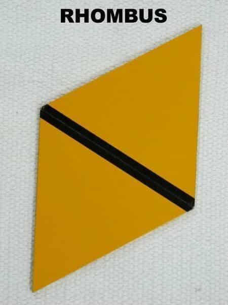 rectangle box rhombus