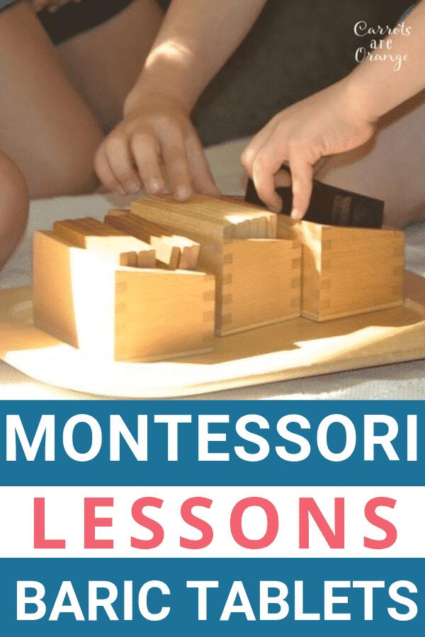 Montessori Sensorial Baric Tablets