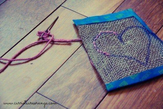 3 Fun & Easy to Put Together Montessori Valentine's Day Activities - Valentine Sewing