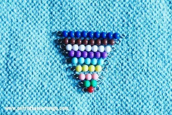 Montessori Math Activities & Lessons - Short Bead Stair