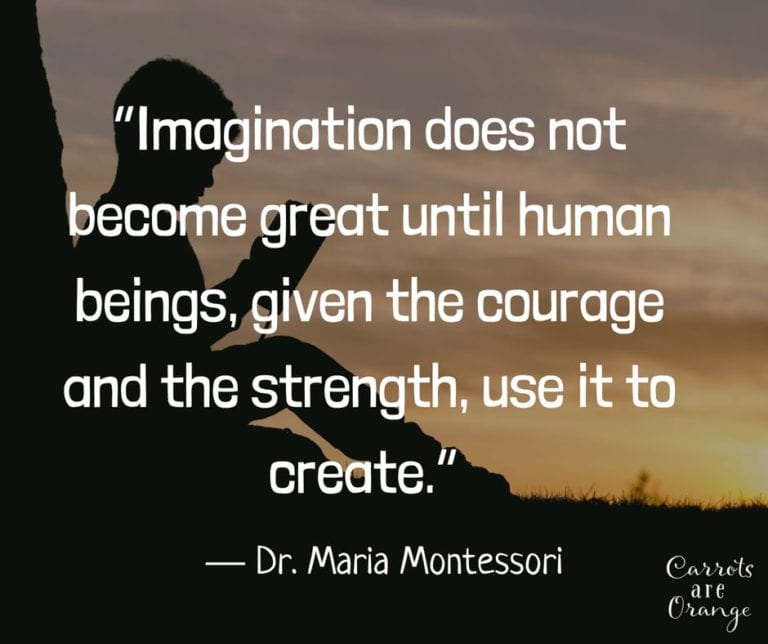 Imagination quote Montessori