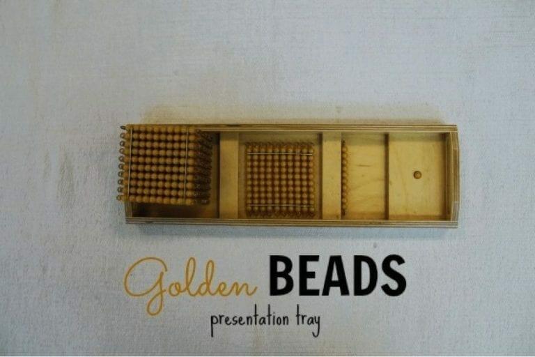 Golden Bead Presentation Tray