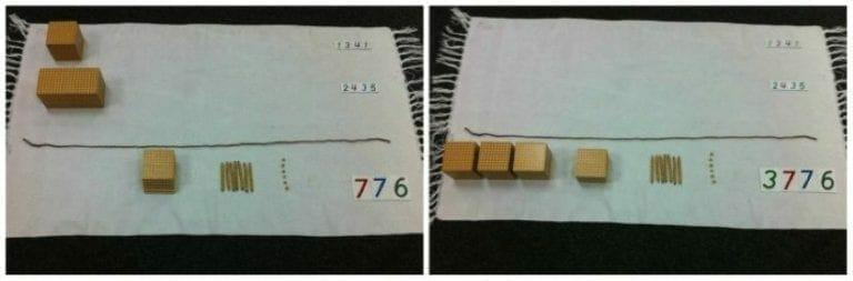 Golden Bead Static Addition Lesson - Montessori Math