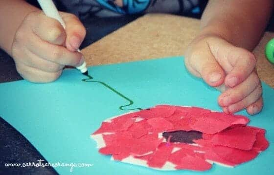 Red Poppy Craft for Kids