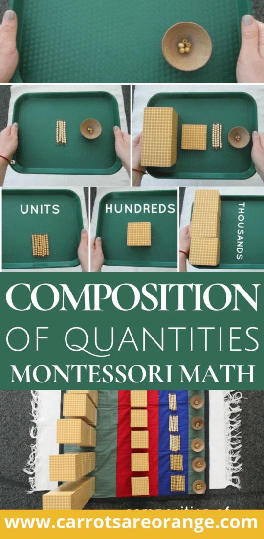 Composition of Quantities Montessori Math Lesson