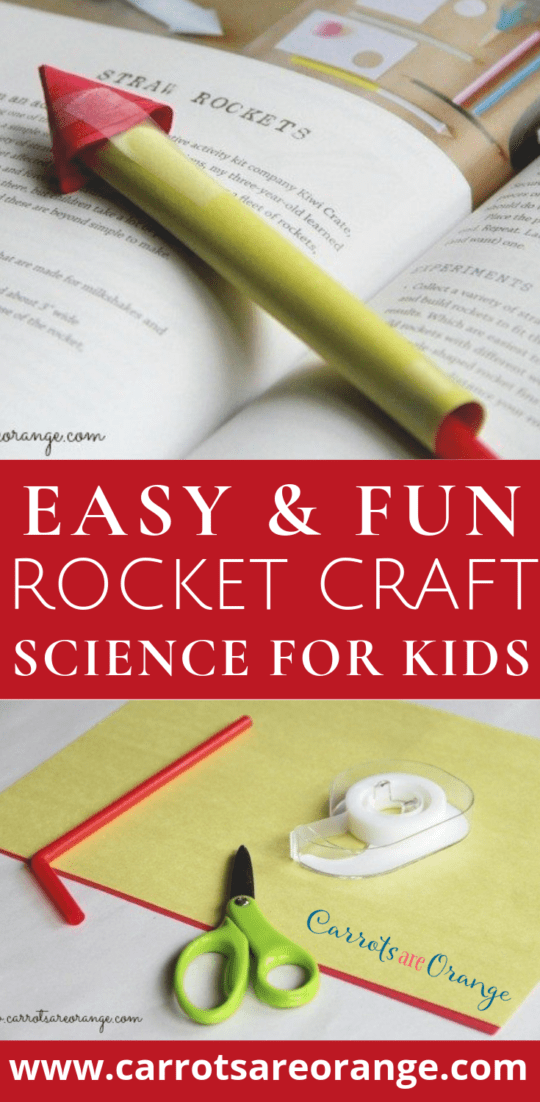 Easy Rocket Craft for Preschoolers