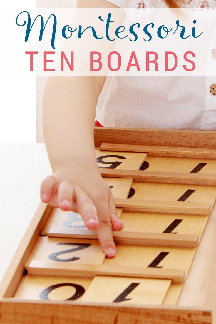 Learn how to teach using Montessori Ten Boards