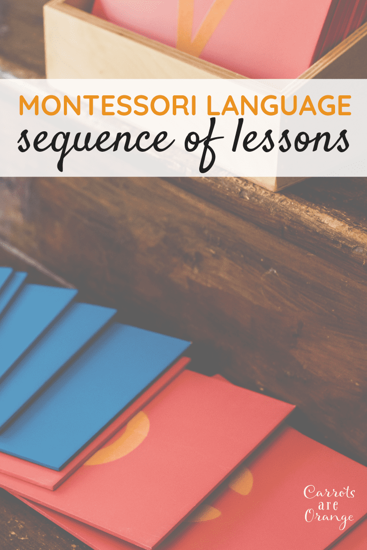 Montessori Language Sequence of Lessons