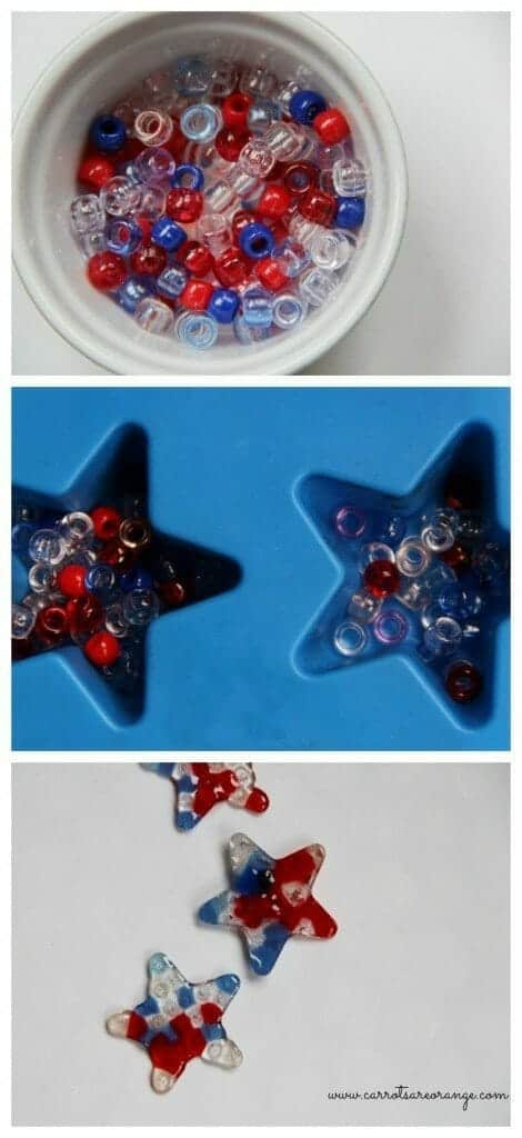 July 4th Pony Bead Activity Collage