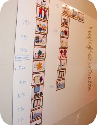 example of a daily routine chart for kids