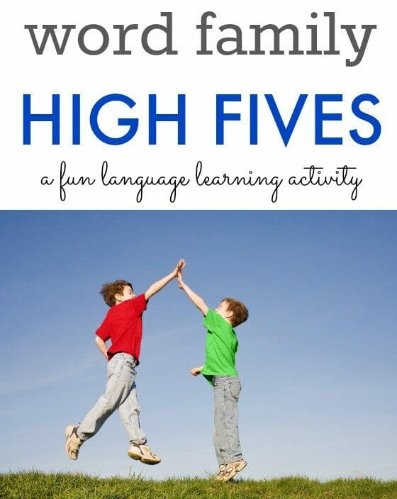 Word Family Activity for Preschoolers