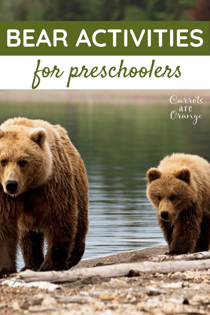 Super Fun & Easy Bear Activities for Preschoolers