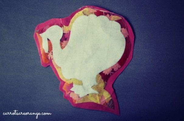 Turkey Craft with Tissue Paper