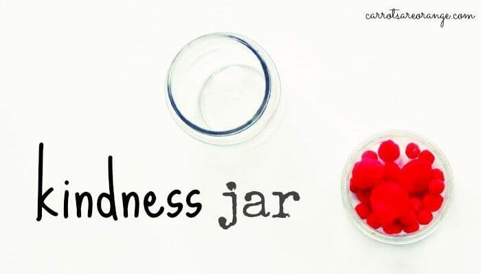 How to Teach Kindness to Kids with a Kindness Activity with a Jar and PomPoms