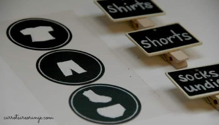Labels for Organing Closet