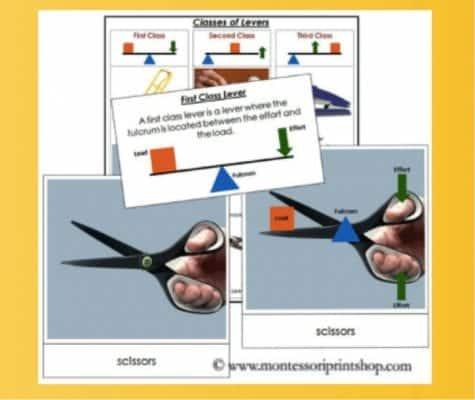 Simple Machine Montessori Cards