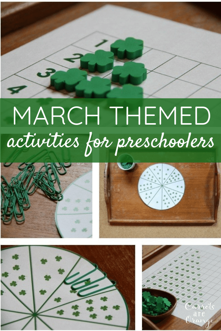 March Themes Activities for Preschoolers