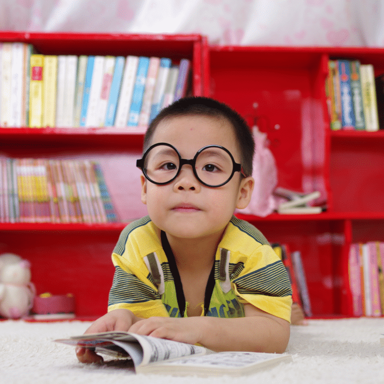 Young child at the library