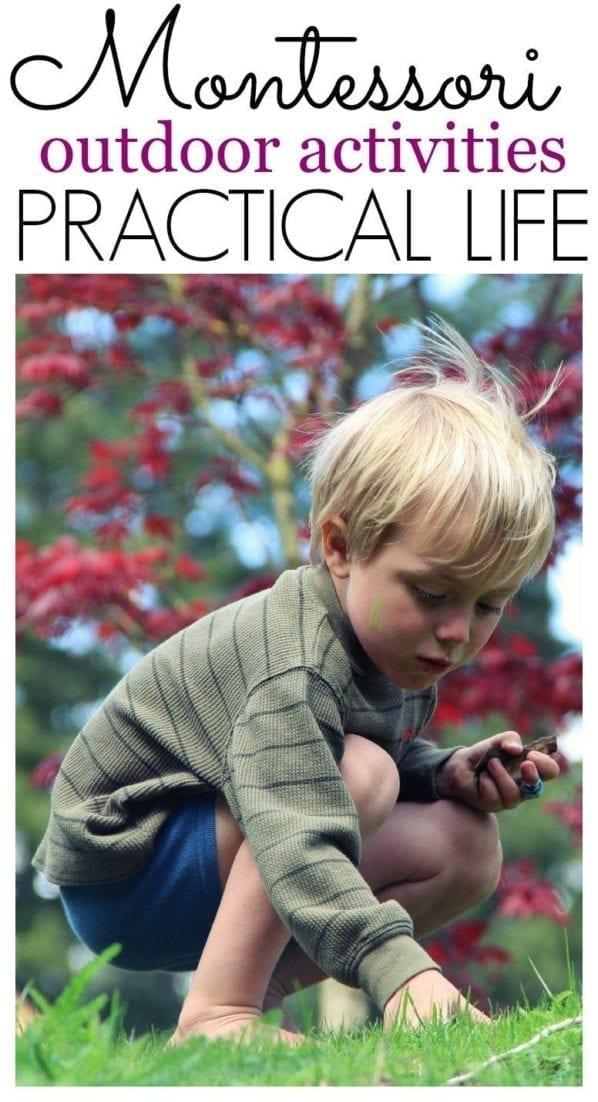 Montessori Outdoor Classroom Activities for Practical Life