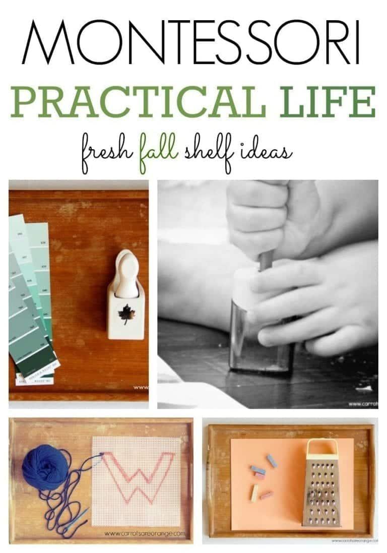 Fall Practical Life Shelves