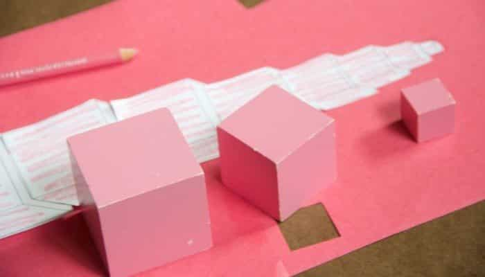 Scissor Cutting Practice Paper Pink Tower